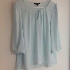 EXPRESS Blue Blouse 3/4 Sleeves